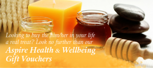 Looking to buy the him.her in your life a real treat? Look no further than our Aspire Health & Wellbeing Gift Vouchers.