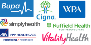 Pupa, Cigna, WPA, Simplyhealth, Nuffield Health, PPP Healthcare, VitalityHealth